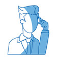 cartoon business man manager employee thinking vector image