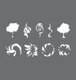 cartoon smoke sprite set vector image vector image