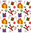 christmas present seamless pattern vector image