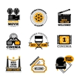 Cinema And Film Labels vector image vector image