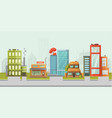city street buildings modern family house with vector image