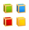 colored wooden cubes vector image