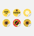 covid19-19 icons set realistic social distance vector image