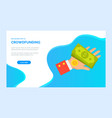 crowdfunding app payment web technology vector image