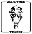 drug free forces straight edge design vector image