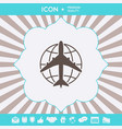 earth and airplane logo graphic elements for your vector image