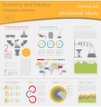 Economy and industry Chemical and petrochemical vector image vector image