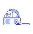 fireman helmet icon vector image