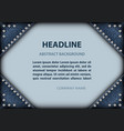 frame with jeans angles and spangles vector image vector image