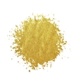 Gold stain isolated on white background vector image
