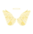 Golden wing vector image vector image