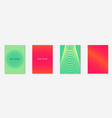 gradient cover template with line geometric vector image