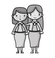 Grayscale teacher with student to class education
