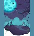 halloween theme on background moon vector image vector image