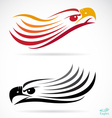 head an eagle vector image vector image