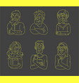 icon and logo people character avatars vector image