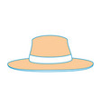 isolated beach hat vector image