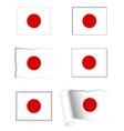 Japan flag set vector image vector image