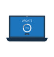 laptop with update screen vector image vector image