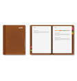 leather note book realistic 3d detailed vector image vector image