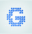 letter g logo halftone icon vector image vector image
