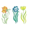 little beautiful watercolor floral bouquet vector image vector image