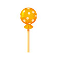 lollipop colorful sweet round candies on stick in vector image vector image