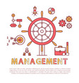 management poster text sample vector image vector image