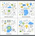 mental activity flat concept vector image