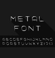 metal font iron english alphabet steel latin vector image vector image