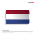 netherland flags design vector image