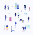office life - flat design style set of isolated vector image vector image