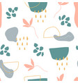 organic shapes seamless pattern unique hand drawn vector image vector image