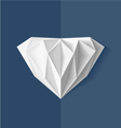 Origami Diamond vector image