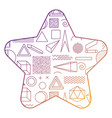 pattern shape star with geometric memphis style vector image vector image