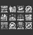 pest control disinsection company service icons vector image