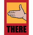 poster with open palm targeting direction vector image vector image