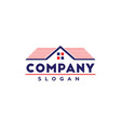 real estate logo with usa colors vector image