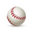 realistic baseball ball leather 3d white softball vector image