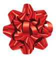 Red holiday bow vector image vector image