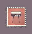retro style radiogram flat stamp with shadow vector image