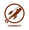 rocket bottle logo vector image