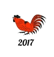 Rooster in red and black colors vector image vector image