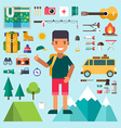 set icons and in flat design style male cartoon vector image vector image