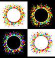 Set of Bright Celebration Holiday Frames vector image vector image