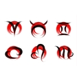 set of signs zodiac painted with a brush vector image vector image