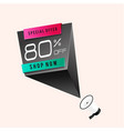 special offer 80 off shop now megaphone backgroun vector image