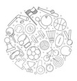 sport circle background from line icon vector image vector image