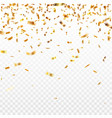 stock gold confetti isolated vector image
