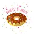 Sweet cartoon chocolate donut